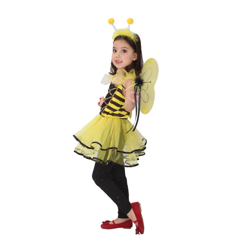 Honey Bumble Bee Girls Kids Toddler Infant Halloween Fancy Dress Up PartyCostume