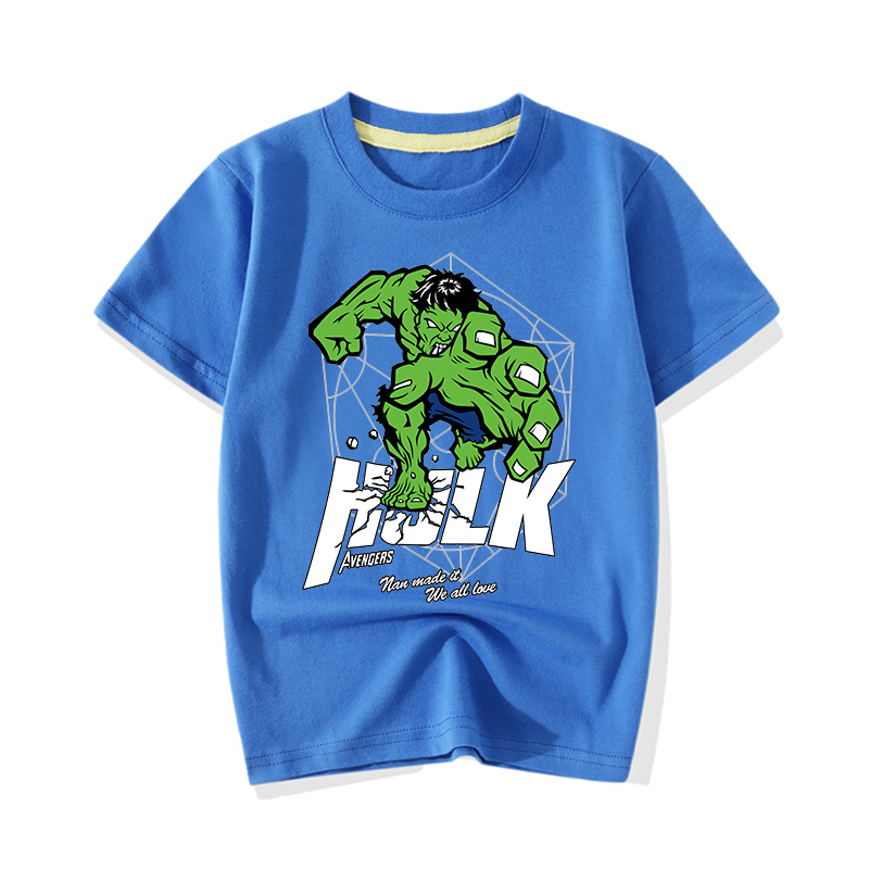 Big Boy Girl Summer Cartoon Hero Hulk Print T-shirts Clothes Children Baby Cute Pink Short Sleeve Tee Top Tshirts Clothing JY011 (9)