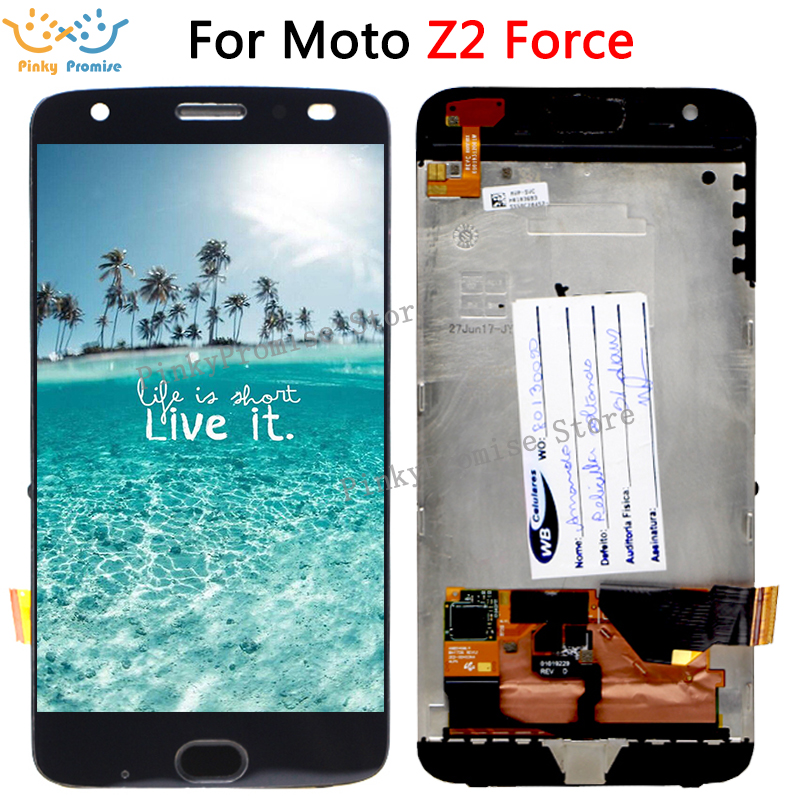 5 5 Black White LCD FOR Motorola MOTO Z2 Force XT1789 LCD Display with Touch Screen