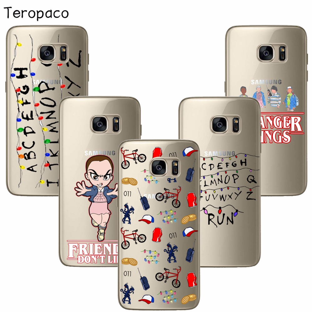 buy popular db600 a98be Stranger Things Christmas Lights For Samsung S6 S7 Edge S8 Plus A3 A5 A7  Soft Silicone TPU Phone Cases Back Cover Fundas Capa