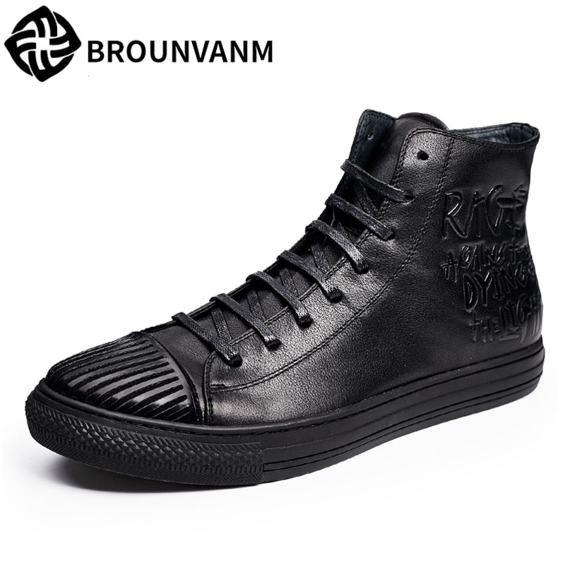hot 2017 authentic men s boots british tide martin boots men s leather boots leather boots lovers scooter 34 45 2017 men leather shoes short cylinder, men's boots, Martin boots, men's British high shoes, retro European shoes shoes men