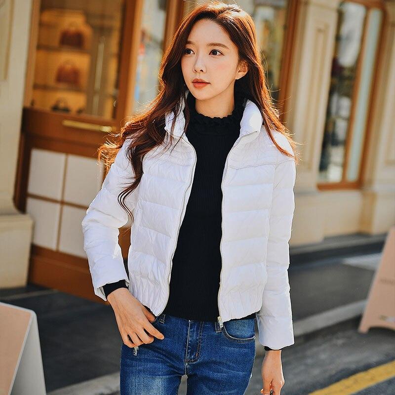 Dabuwawa 새로운 여성 짧은 코트 겨울 블랙 windproof thicken down jacket 스탠드 칼라 duck down streetwear jacket d18ddw040-에서다운 코트부터 여성 의류 의  그룹 2