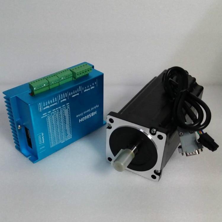 Livraison gratuite Nema 34 12.5N.m Kit de moteur pas à pas en boucle fermée pilote Servo Hybird 86HBS120 + HBS860H 86 moteur pas à pas 2 phases