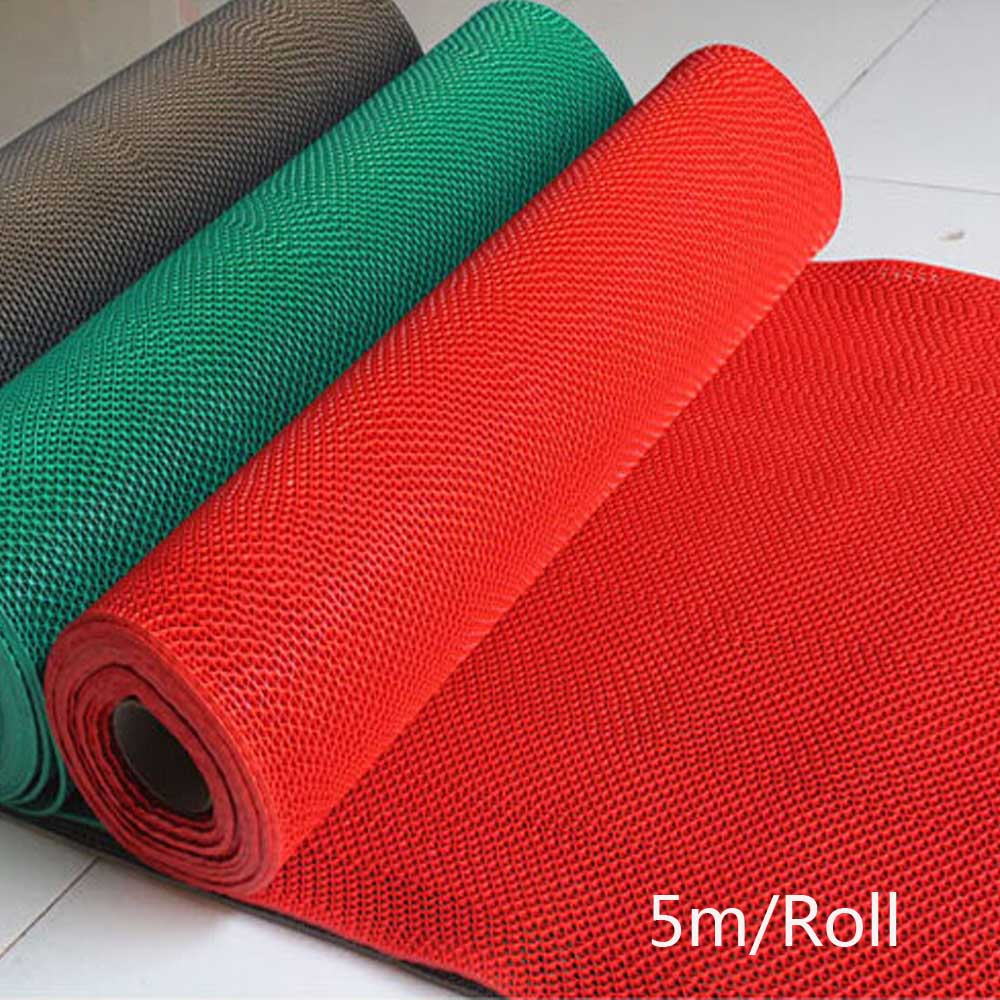5m/roll Non Slip Bath Room Mat Bathroom Rug Floor Carpet PVC Plaid Toilet  Shower Kitchen Living Room Mats Waterproof Red Carpets-in Carpet from Home  ...