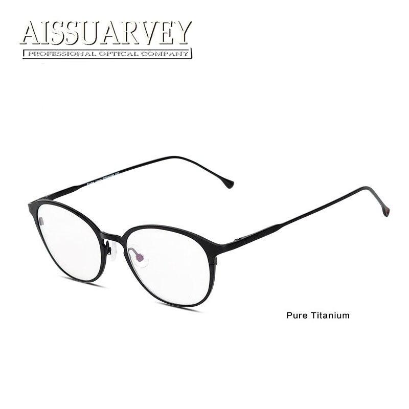 ヾ(^▽^)ノTitanio puro Gafas marcos hombres mujeres gafas óptico ...