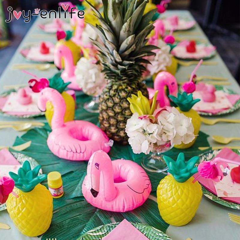 JOY-ENLIFE Hawaii Beach Flamingo Theme Summer Party Supplies Balloon Cake Topper Garland Foil Balloon Baby Shower Birthday Decor