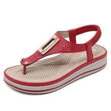 купить Bohemia Sandals Women Beach Shoes Women's Sandals Flat Summer Shoes Fashion Ladies Rome Sandals Plus Size for Lady Flip Flops по цене 1228.85 рублей