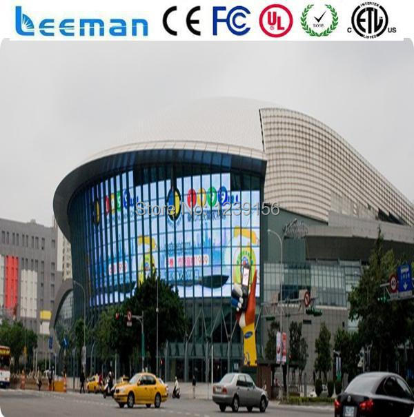 Outdoor Building glass window advertising led display P18 75mm Glass LED  wall/glass wall led screen-in LED Displays from Electronic Components &