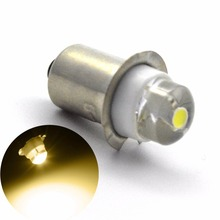 1pc white warm LED Upgrade Bulb For D+C cell flashlights P13.5S 0.5W 3V DC4-12V/6-18V Replacement Torch Bulbs