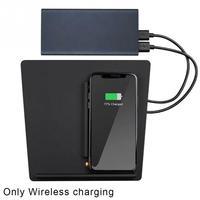 Puerto USB cargador inalámbrico mejorado Interior Auto coche montaje Qi Dual teléfonos carga Centro consola para Tesla modelo 3