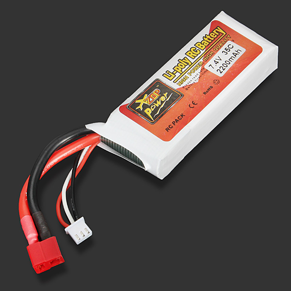 Hot Sale High Quality ZOP Power 7.4V 2200mAh 35C Lipo Battery T Plug high quality zop power 11 1v 1500mah 25c lipo battery t plug