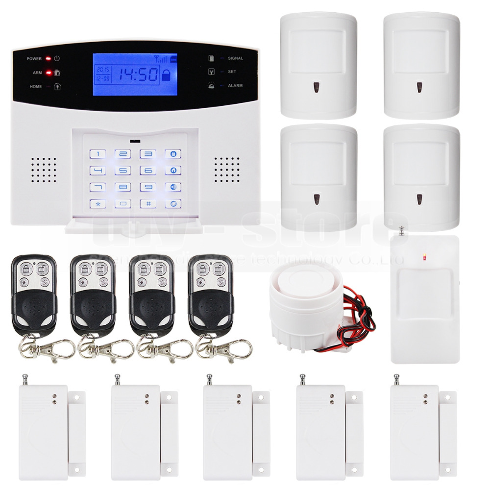 DIYSECUR DIY 99 Wireless 7 Wired Defense Zones Gsm Sim Alarm System Kit Pet-Immune Pir Motion Detector daily immune defense в москве