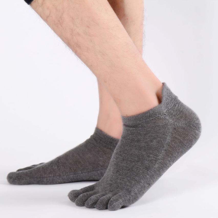 JAYCOSIN 2018 Socks Men Casual Fashion Solid Mens Sock Ankle Five Finger Socks j31