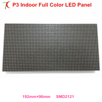 China free shipping smaller P3 rgb indoor smd matrix 64x32 pixel panel 192x96mm led display screen module 16scan hub75 led boar