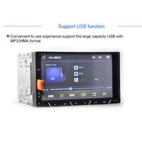 Cimiva 7 inch TFT2 Din Car DVD Player Hiển Thị Cảm Ứng Phổ built-in Bluetooth FM Transmitter MP3/4/5 Bluetooth 800*480 Xếp