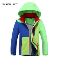 THE ARCTIC LIGHT Ski Jacket Autumn Winter Children Coat Hood Boy Girl Windproof Waterproof Outdoor Camping hiking