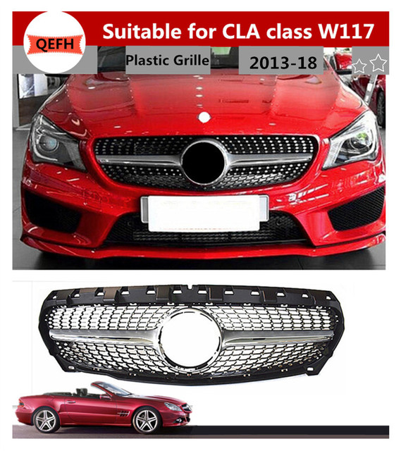 Sem Emblema Diamante Grade Adequado Para Mercedes Benz CLA Classe W117  CLA180 CLA200 CLA250 CLA45 2013
