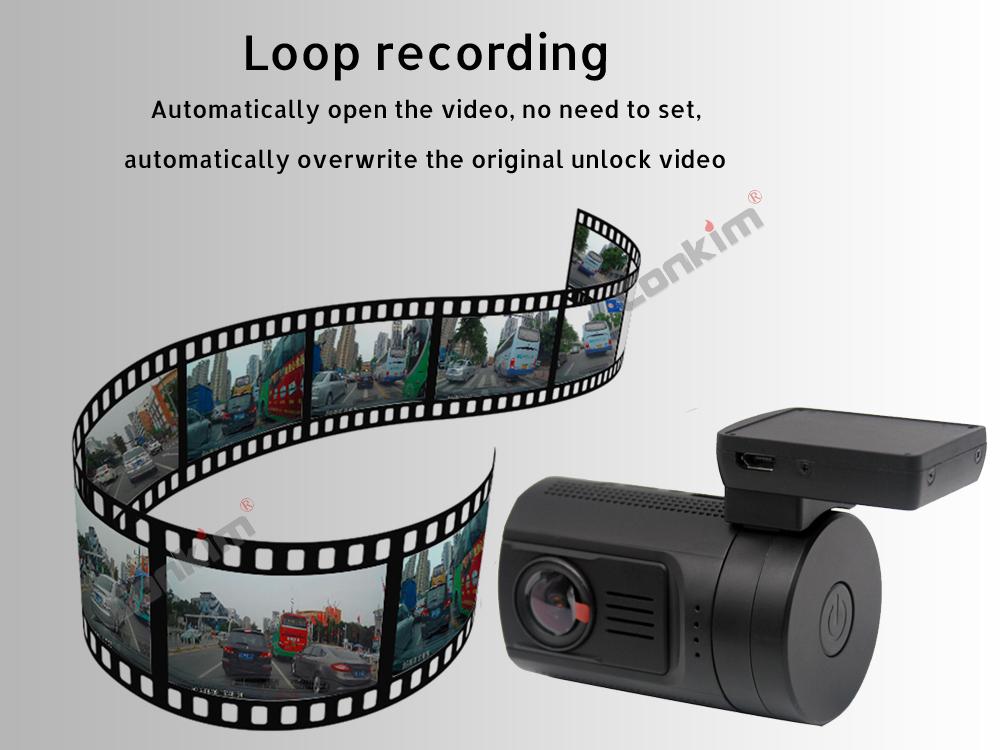 Conkim Mini 0906 Two Camera GPS Car DVR Registrar 1080P Full HD Rear View Camera Capacitor Dual Lens DVR Parking Guard Sensor 7