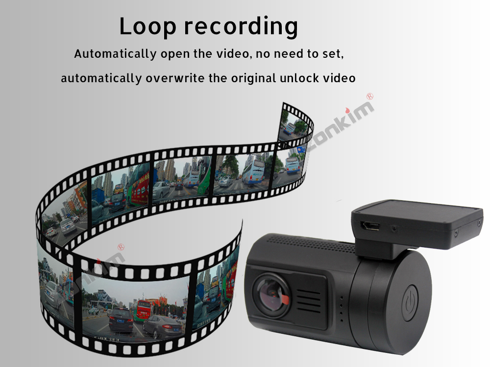 Conkim Dual Lens Car Dash Camera GPS DVR Front 1080P FHD+Rear Camera 1080P FHD Parking Guard Motion Detect Mini 0906 Novatek Cam 6