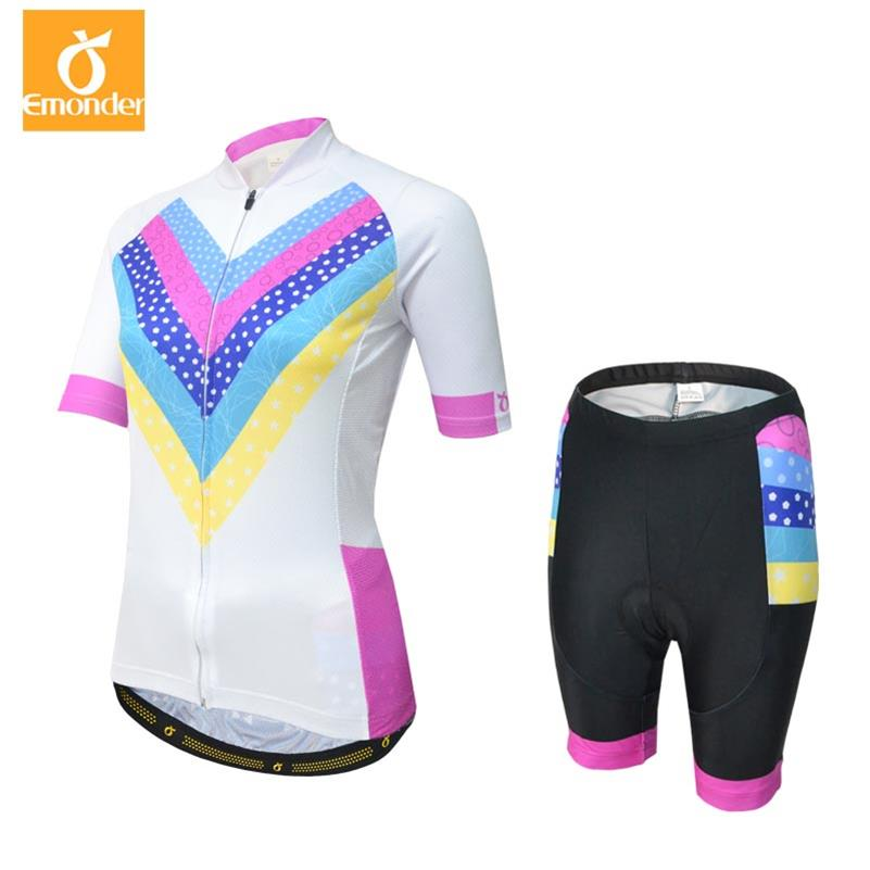 EMONDER Cycling Jersey Sets Women Summer Quick-Dry MTB breathable bike jerseys bicycle Mountain wear MTB Bike Clothing