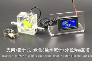 Image 2 - 2020 NEW LED Thermometer 3 Way Flow Meter For Water Cooling Liquid Cooler System & 2 Barbs