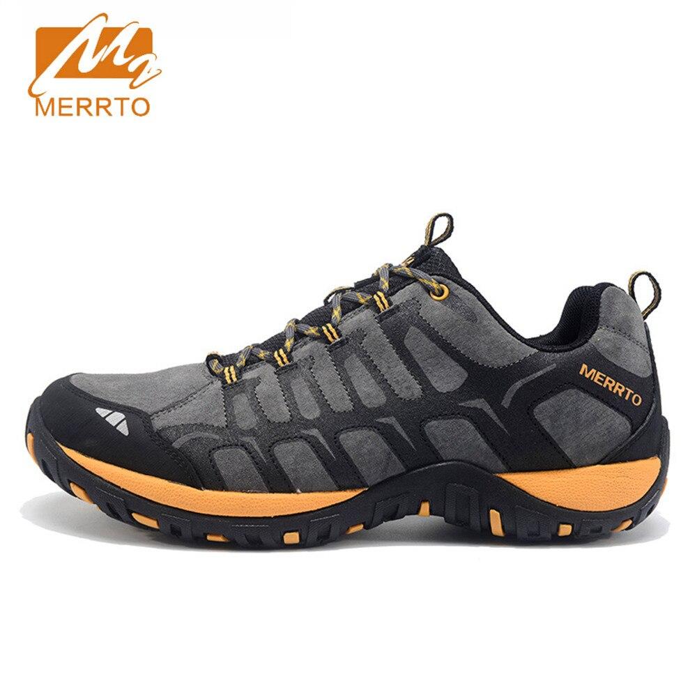 2018 Merrto Для мужчин Обувь для прогулок дышащие Нескользящие Спорт на открытом воздухе Обувь путешествия Обувь первый кожа для Для мужчин; Бес... ...