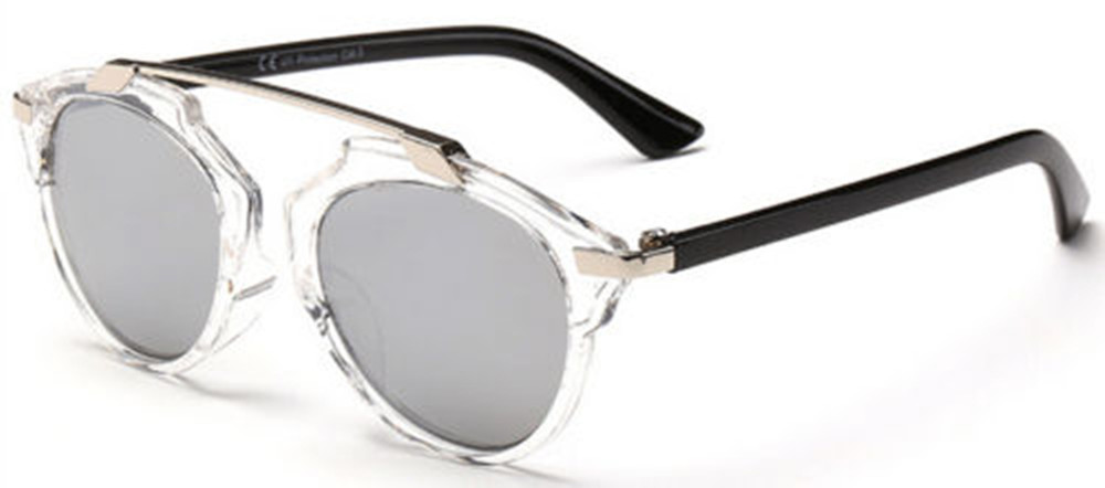 a4b6e020f New Fashion Transparent Sunglasses Men Women Vintage Silver Mirror Lens-in  Sunglasses from Apparel Accessories on Aliexpress.com | Alibaba Group