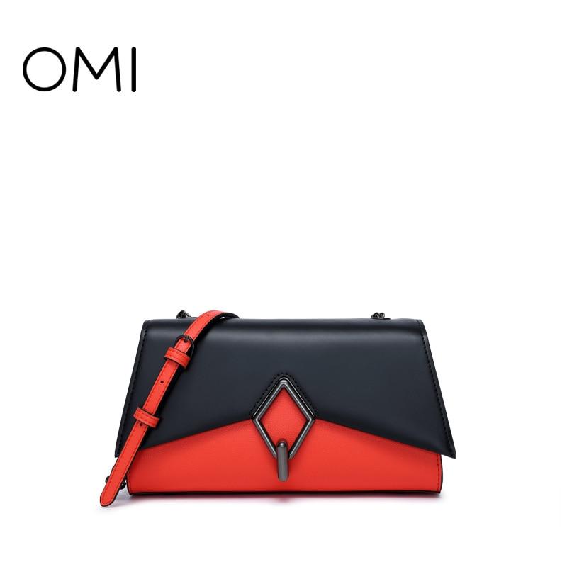 Omi handbag 2018 new hit color handbag diagonal bag shoulder bag lock buckle ladies fashion bag цены