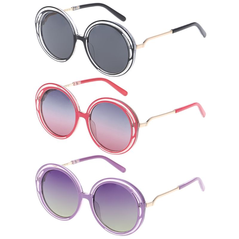 1PC Kids Sunglasses Polarized Fashion Colorful Gradient Simple Large Frame Beach Outdoor Children UV400 Eyewear