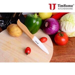 Image 4 - Novo conjunto de facas de cerâmica, facas de bambu com cabo para cozinha, facas para cortar frutas, utensílios de cozinha, facas para cortar carne
