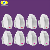 Free Shipping KERUI Wireless Curtain Window Motion Sensor For Security Monitored GSM Alarm System 433 MHZ