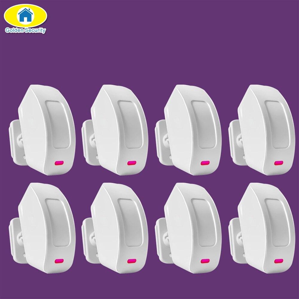 Sécurité dorée 8 pièces P817 capteur de mouvement de fenêtre rideau PIR sans fil pour système d'alarme KERUI G19 G18 8218G W2 sécurité d'alarme à domicile