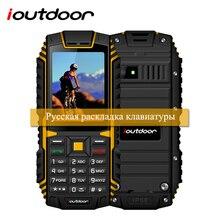 "Xgody ioutdoor T1 2G teléfono característica IP68 impermeable 2.4 ""128 m + 32 m GSM 2MP Cámara FM 2100 mAh ruso teclado teléfono celular móvil"