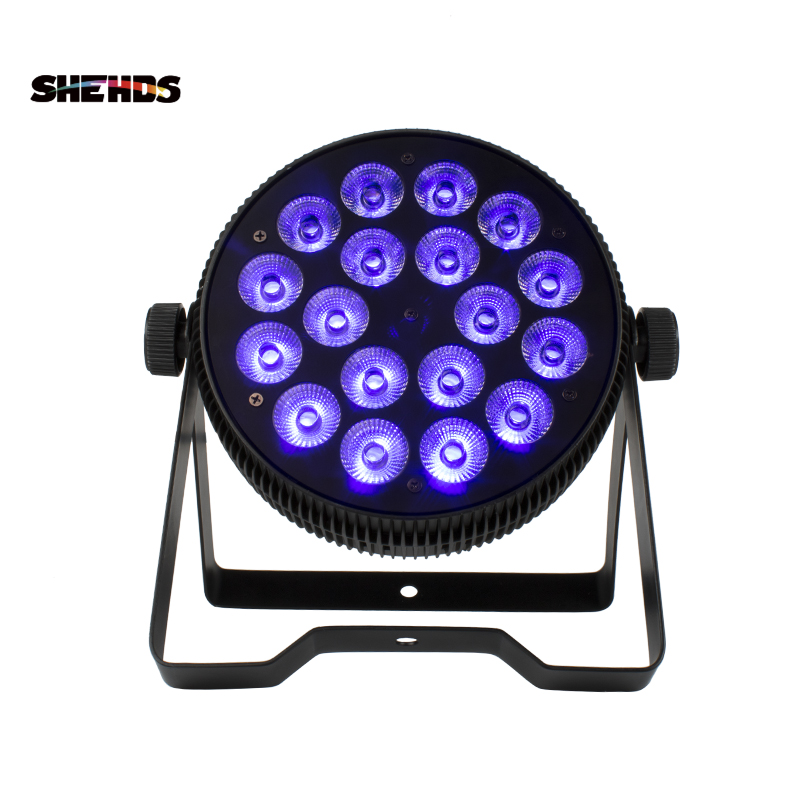 Stage Lighting Effect 18x3w Stage Light Effect Uv Led Flat Par Dj Disco Lamp Ktv Bar Party Backlight Beam Projector Spotlight