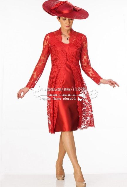 Mother of Bride Red Dress