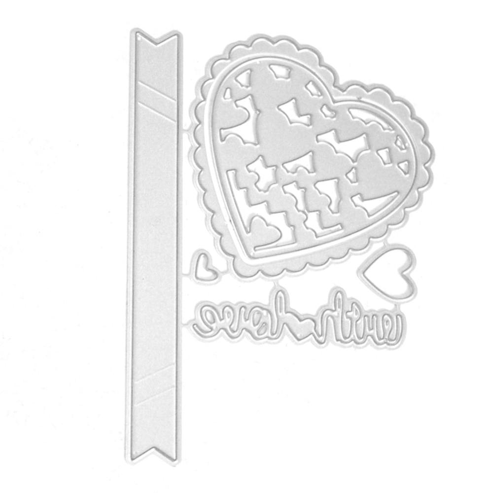 11.X7.8cm New scrapbooking DIY heart Best wishes Shape Metal steel cutting die love shape Book photo album art card Dies Cut