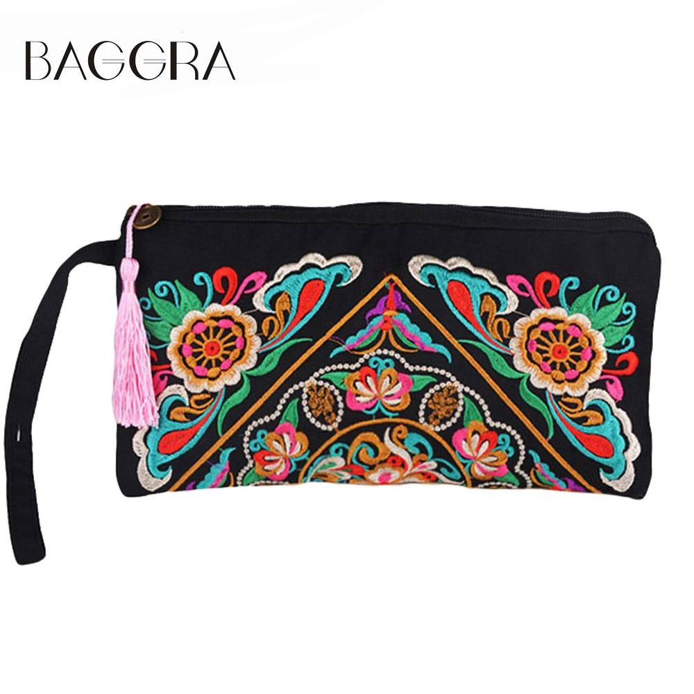 2017 Luxury Handbags Women Bags Designer Embroidery Envelope Clutch Bag Vintage Tassel Evening Clutch Purse Bolsa Feminina