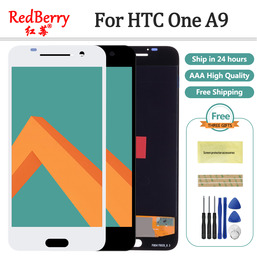 5 0 AMOLED 1920x1080 For HTC ONE A9 LCD Display Touch Screen A9W A9T A9D Digitizer