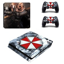 New PS4 Slim Skin Sticker For Sony PlayStation 4 Console and 2 Controllers PS4 Slim Skins Sticker Decal Vinyl