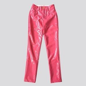Image 5 - BEVENCCEL חורף מכנסיים עור מפוצל מכנסיים נשים סקסי לטקס מכנסיים נשים Streetwear עם כותנה נשים מכנסיים
