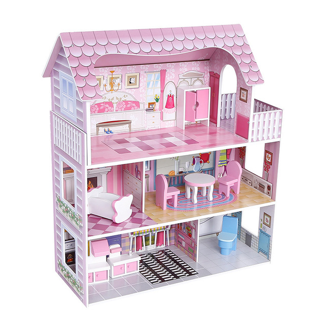 Sylvanian Families House Simulation Large Doll House Furniture Play