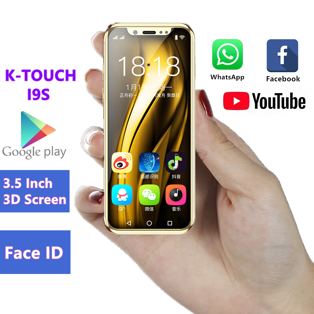 Pocket Mini Android Smartphone K TOUCH I9S MTK6580 16GB Celular GPS WIFI Face ID Google play