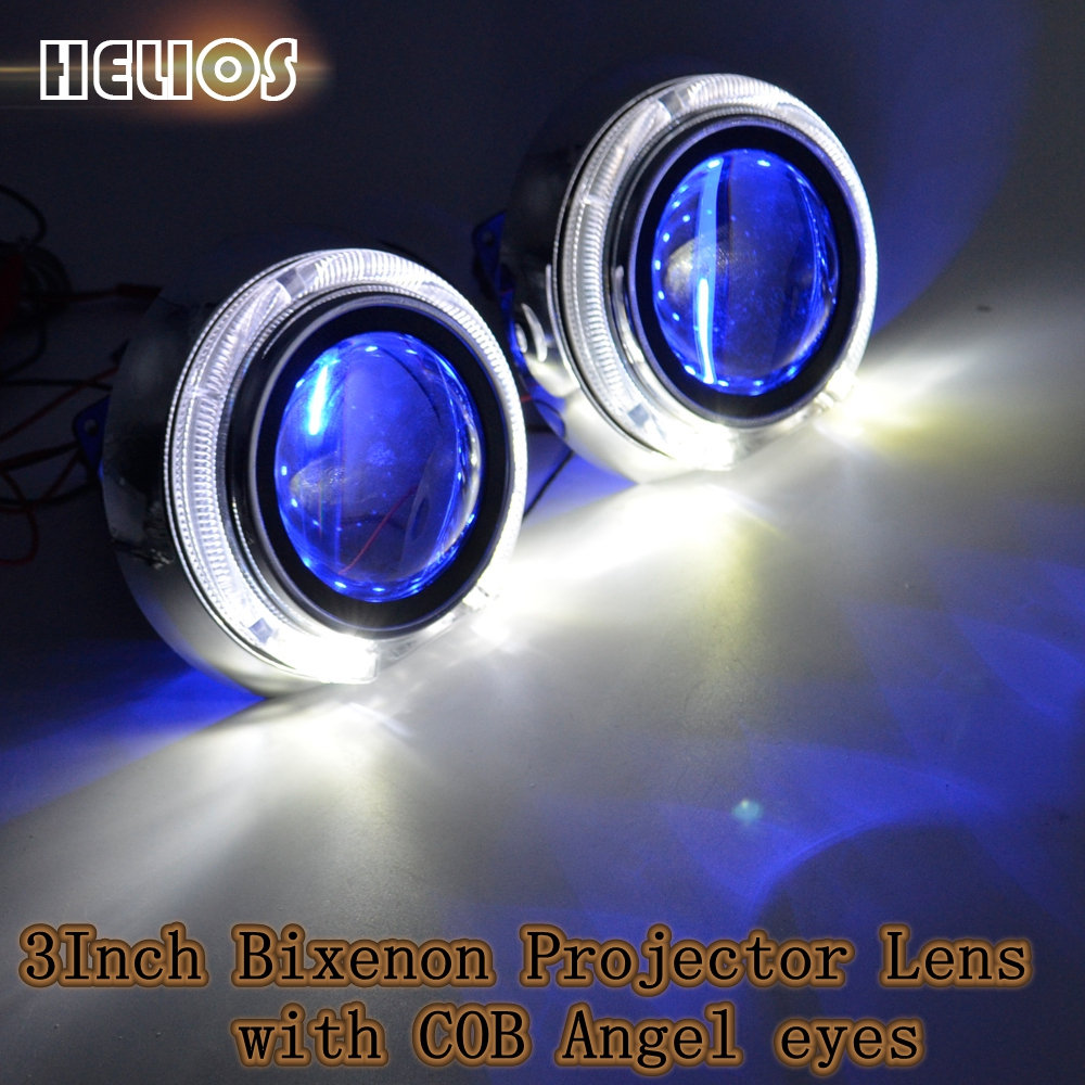 ФОТО car 3inch hid bixenon projector lens Shroud Masks Smax For 2.5& 3 Inches LED Daytime Running Light Angel Eye with xenon bulb car