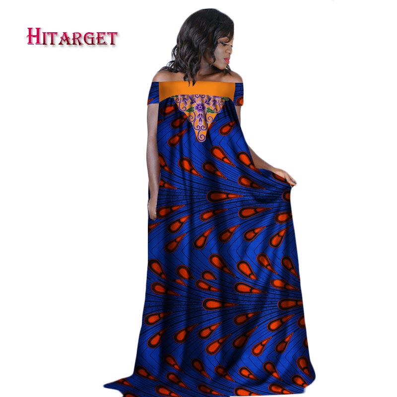 Hitarget  2018 african dresses for women fashion design new bazin embroidery long dress clothes WY2282