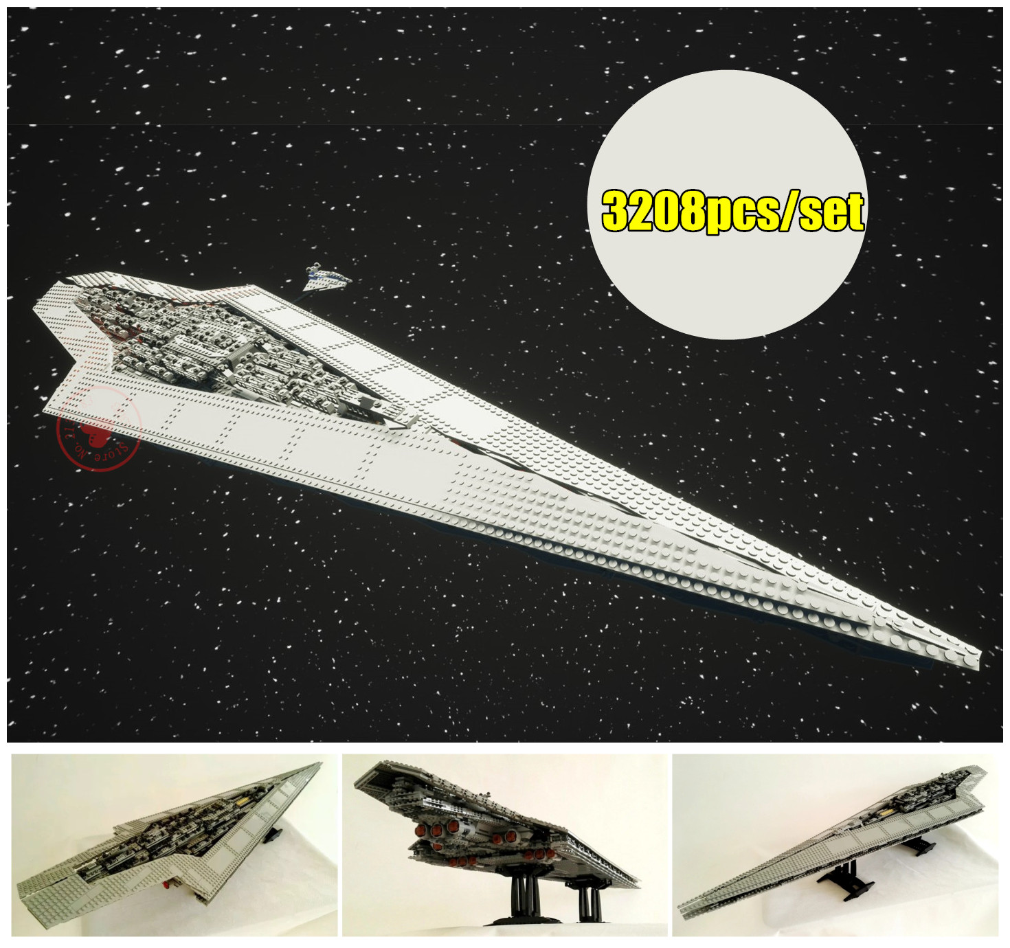 New Star fighter Execytor Super Star Destroyer fit legoings star wars figures Model Building Block Brick 10221 Gifts diy toys super star 3