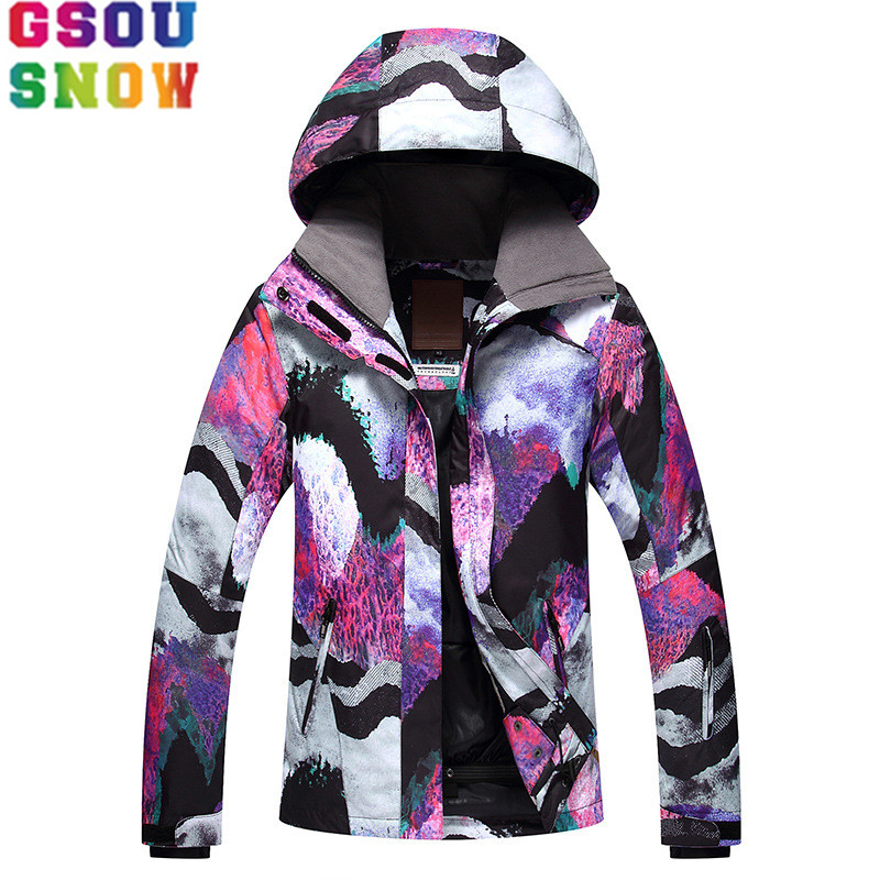 GSOU SNOW Brand Ski Jacket Women Winter Waterproof Snowboard Jacket Cheap Ski Suit Outdoor Ladies Sport Clothes New Arrival hot sale baby girl elastic hairband children hair wear for kids head band flower headband baby hair accessories