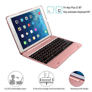 Image 3 - Клавиатура Чехол для iPad 9,7 2018 6th iPad 9,7 2017 5th, смарт Беспроводной клавиатура чехол для iPad Air 2, iPad Pro 9,7 дюйма Планшет