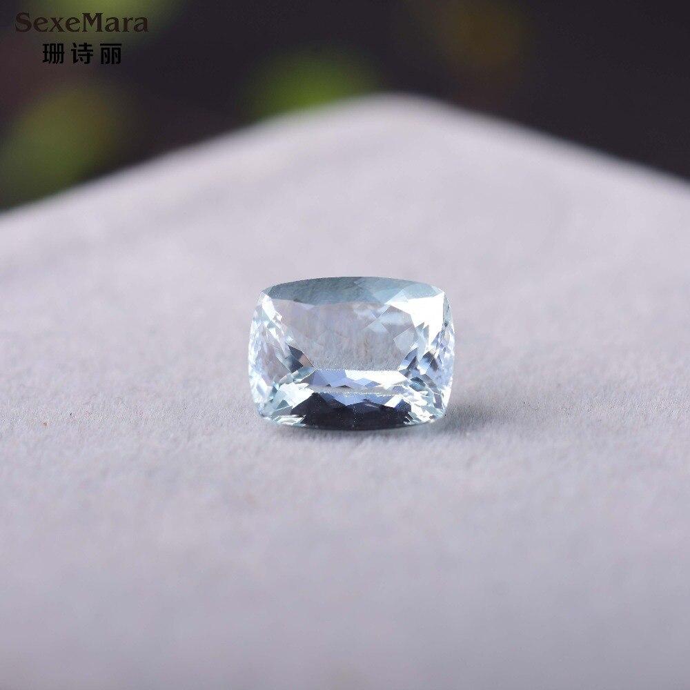 5.6ct rectangle Aquamarine pure natural gemstone