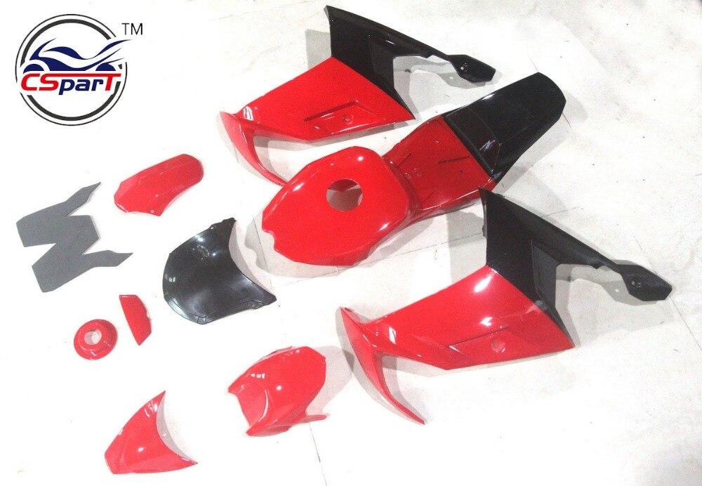 Пластиковый обтекатель комплект бамперов плита гвардии Крышка для мини-Мото карманный велосипед Обтекателя обвес пластиковый 39CC Т А4
