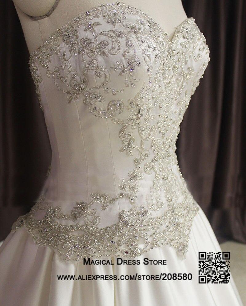 Frauen Prinzessin Kristall Bling Hochzeitskleid Perlen Perlen Schatz ...